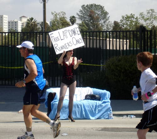 marathon lap dance sign