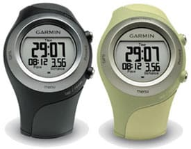 Garmin Forerunner 405 black and green