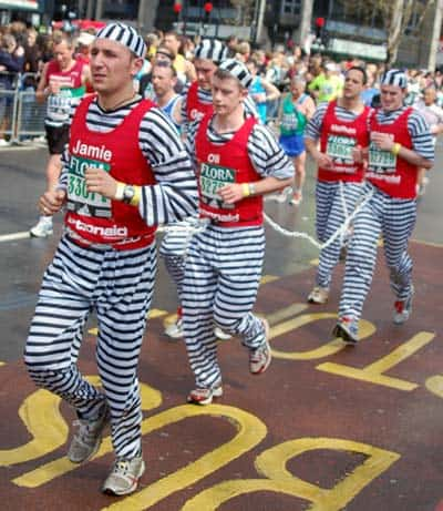 Jail escapees running in marathon