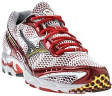 Red Mizuno Wave Elixer shoes