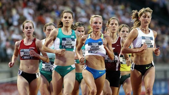 Women running in the US Olympic trials
