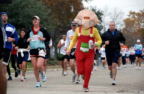 Stewie character in London marathon