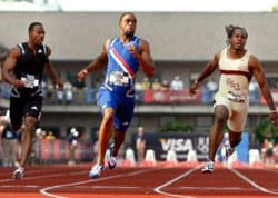 Tyson Gay runs fastest aided 100 meters ever